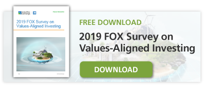 Free Download: 2019  FOX Survey on Values-Aligned Investing