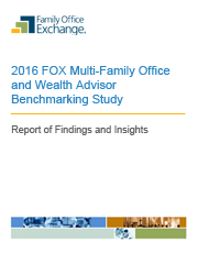 2016 FOX Multi-Family Office and Wealth Advisor Benchmarking Study Report