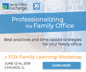 2019 Family Office Workshop